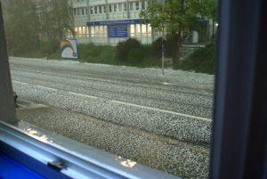 Hagel Konstanz 26. Mai 2009 - Unwetter, Hagelkörner