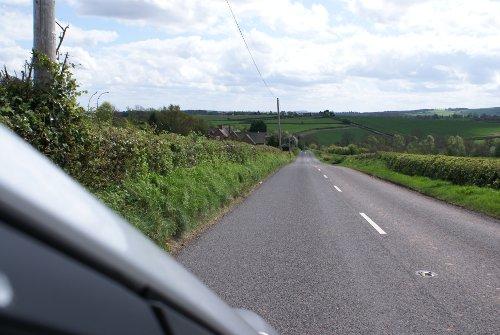 Blick aus dem Auto