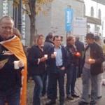 Lichter Kundgebung Radolfzell gegen Gewalt bei S21