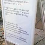 Widerstandsrecht Plakat bei der Kundgebung in Radolfzell am 4.10.2010
