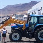 Blauer Bagger auf Fuerteventura