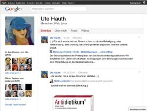 Ute auf google+