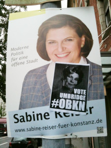 Wahlplakat mit erweitertem Meinungsbild... vote umbridge #obkn
