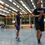 Rüdiger & Lukas Badminton Spieltag PTSV 2012