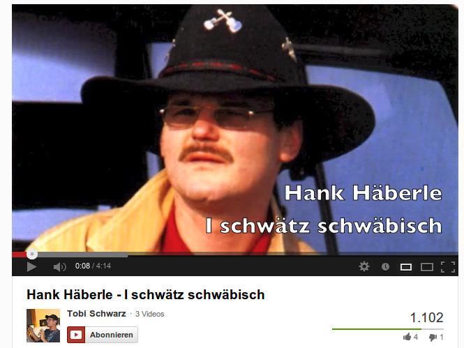 i schwätz schwäbisch - Hank Häberle Video