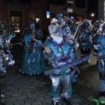 Guggemusik nachts mit Blinklichtern Fasnet Konstanz