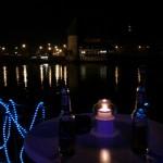 Nachts Blick auf die Rheinbrücke Konstanz Bodensee