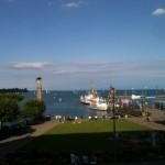 Blick vom Konzil aus auf den Hafen Konstanz Bodensee