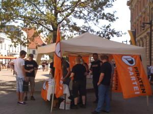 Infostand Marktstätte Piraten Konstanz 2009 Piratenpartei