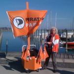 Piratenschiff im Hafen von Konstanz
