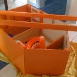 Piratenschiff in Einzelteilen mit dünnen Seitenwänden