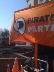 Piratenschiff mit Fahne