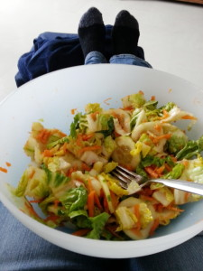 Eine Schüssel voll Salat