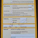 Benachrichtigung zur Abholung - Paket als Briefsendung