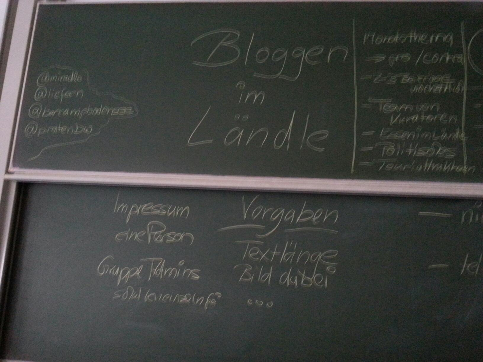 Bloggen im Ländle - Mitschrieb #bcbs13