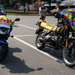 """Tigerente-Motorrad und Banditin mit """"Handtasche"""" - CSD am See 2013"""
