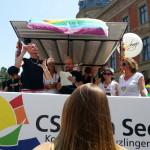 Kundgebung mit Gebärdendolmetscher - CSD am See 2013
