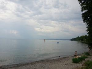Hörlepark Konstanz Badewetter wolkig