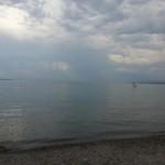 Aufziehender Regen am Bodensee