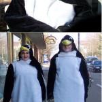 Tux und Tux Fasnet mit gelben Füßen Pinguin aus Plüsch
