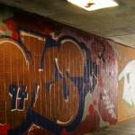 Graffiti Unterführung Trier 2013 Kacheln besprüht