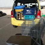 Geschafft, Wagen leer, Smiliemobil voll - Einkaufen für den Lieferservice