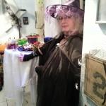 Halloweenparty Futter-Deko nachts bei der Party mit Ute