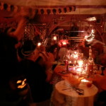 Halloweenparty Deko nachts bei der Party