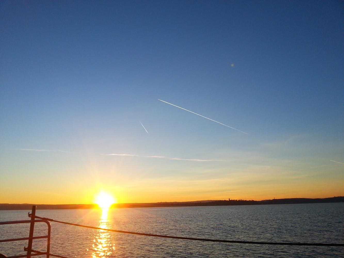 Sonnenuntergang am Bodensee - Fähre Meersburg nach Konstanz