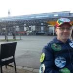 Datenträger nachmittags im Sonnenschein am Schmotizge in Konstanz - Fasnet