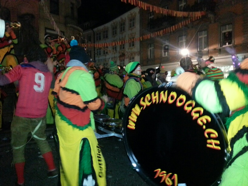 Gottlieber Schnooge abends bei der Fasnet in Konstanz