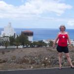 mit Schweizer T-Shirt auf Fuerteventura