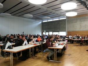 Versammlung beim Landesparteitag Piraten Baden-Württemberg in Heidelberg 15./16.2.2014