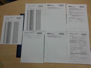 Drucken von zwei Seiten - mal wieder mit Problemen, die eine Seite fast leer, die andere mit schwarzen Strichen