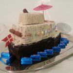 Blaues Wasser, Schoko-Rettungsboote - Kreuzfahrtschiff - Kuchen - Keks - Kalter Hund