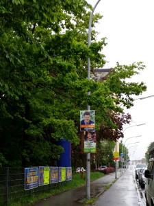 Sie hängen wieder überall, die Wahlplakate. Kommunalwahl Konstanz und Europawahl