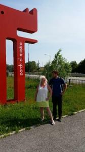 2014-05-20 Rüdiger und Ute kurz vor Venedig