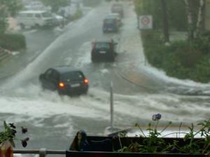 Hagel beim Unwetter nachmittags um vier in Konstanz 26.5.2009