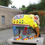 Elefant in Trier, bei der Elefantenparade Trier-Luxemburg