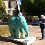 Ute, utele, frido und Elefanten bei der Elefantenparade Trier-Luxemburg