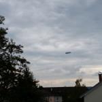 Zeppelin als Zeppelin - am Himmel in Konstanz