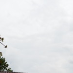 Zeppelin mit Werbung, wie meistens - am Himmel in Konstanz