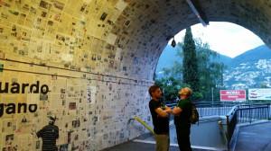 Eingang - ( (S) guardo Lugano Zeitungsunterführung Rüdiger, Roland und Graffiti - sottopassaggio pedonale di Besso a Lugano