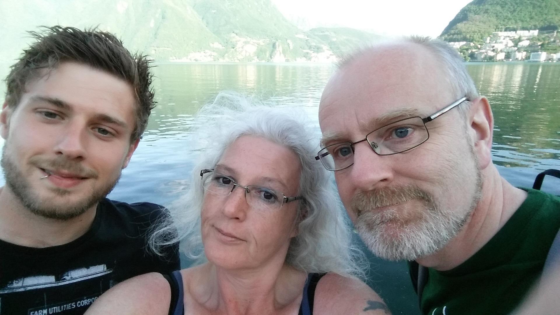 Vierwaldstätter See - Roland, Rüdiger und Ute - Tour Konstanz - Venedig
