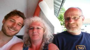 Zurück Zuhause - Roland, Rüdiger und Ute - Tour Konstanz - Venedig