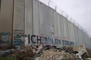 Die Mauer in Bethlehem, Palästina, ICH BIN EIN BERLINER