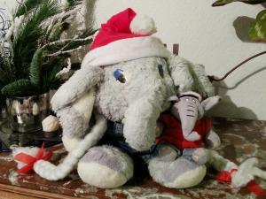weihnachtlich gestylt utele & frido als Weihnachtselefanten