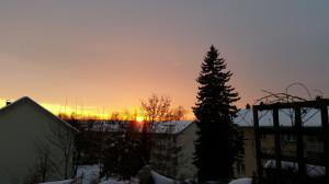 Letzter Sonnenuntergang mit Schnee in 2014