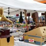 Grammophon - Hingucker beim Flohmarkt San Zenone, Italien