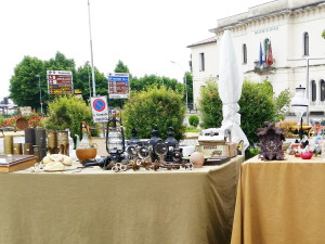 Hingucker beim Flohmarkt San Zenone, Italien